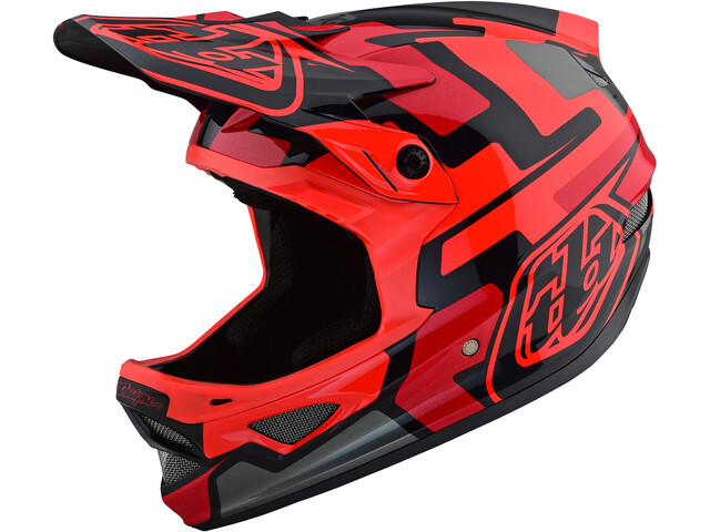 Troy Lee Designs D3 Fiberlite Speedcode Helmet red